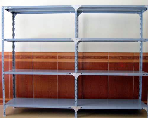 Kệ sắt V lỗ 3 tầng để hàng siêu thị- MS02