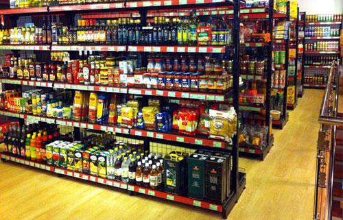Lắp ráp giá kệ để hàng siêu thị theo yêu cầu