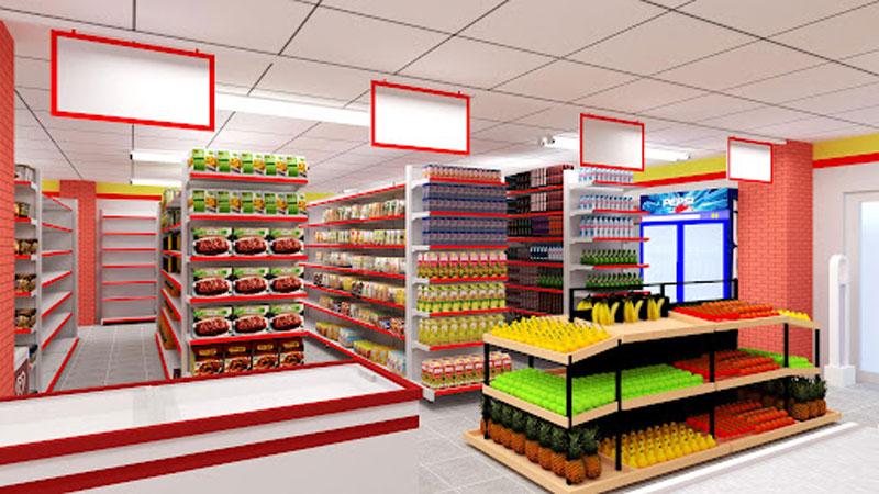 Lắp đặt giá kệ siêu thị mini TPHCM theo yêu cầu