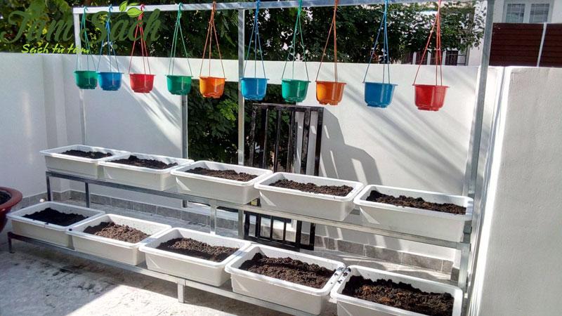 Thi công giá kệ trồng rau TP.HCM theo yêu cầu